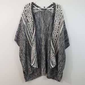 Express knit sweater shawl open cardigan